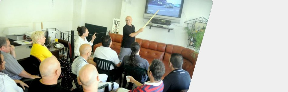 Royal Motoring School Director Twanny Sciberras delivering Driving Theory Lessons in English